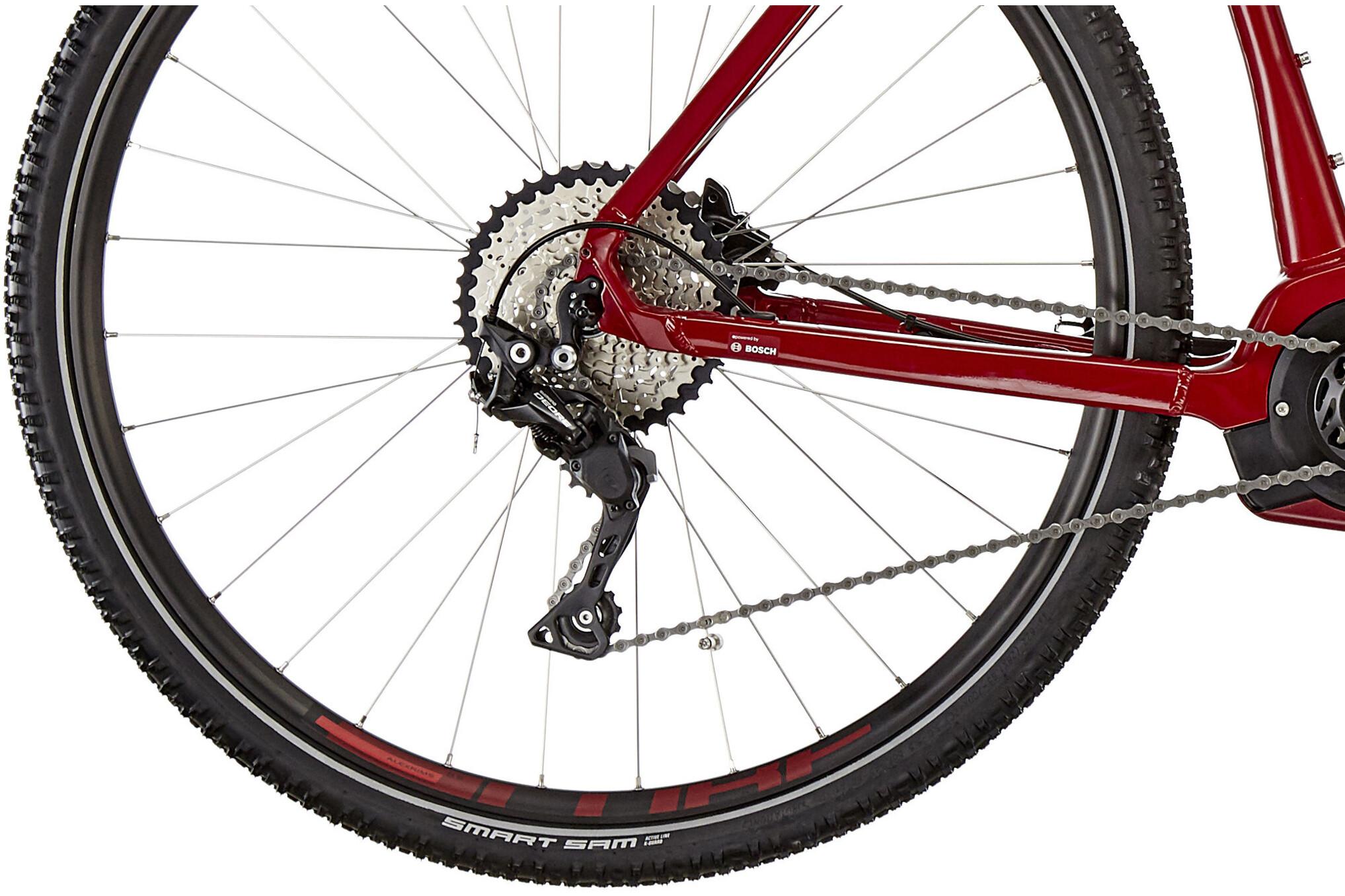 cube cross hybrid pro 500 e cross bike red at. Black Bedroom Furniture Sets. Home Design Ideas